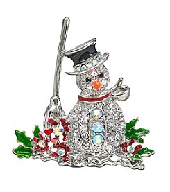 Studio Works Pave Studded Snowman Pin
