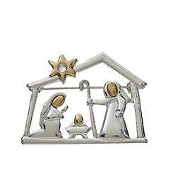 Studio Works Two Tone Nativity Pin