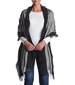 Vince Camuto® Chevron Fringed Blanket Wrap