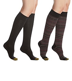 GOLD TOE 2 Pack Modern Mini Stripe Knee Socks