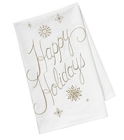 Chef's Quarters Happy Holidays Flour Sack Towel