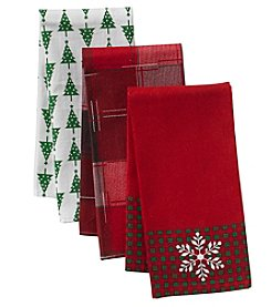 Chef's Quarters 3-Pack Snowflake Kitchen Towels