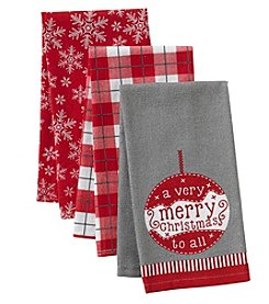 Chef's Quarters 3-Pack Merry Christmas Kitchen Towels