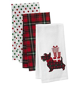 Chef's Quarters 3-Pack Scotty Dog Kitchen Towels