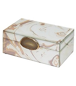 Mikasa Marble Glass Decorative Box