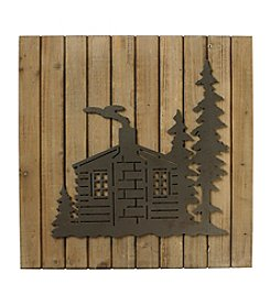 Ruff Hewn Cabin Wood Plank Wall Decoration