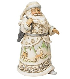 Heartwood Creek by Jim Shore White Woodland Santa with Skates Figurine