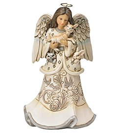 Heartwood Creek by Jim Shore White Woodland Angel with Fawn Figurine