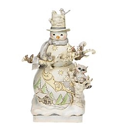Heartwood Creek by Jim Shore White Woodland Snowman Figurine