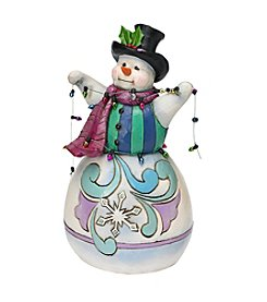 Heartwood Creek by Jim Shore Snowman Wrapped in Lights Figurine