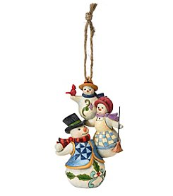 Heartwood Creek by Jim Shore Stacked Snowman Ornament