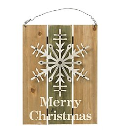 Living Quarters Merry Christmas Snowflake Wall Decor