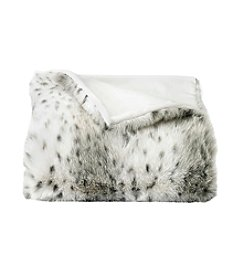 CASA by Victor Alfaro Snow Leopard Luxury Faux Fur Throw