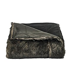 CASA by Victor Alfaro Brown Bear Luxury Faux Fur Throw