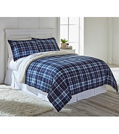 Ruff Hewn Sherpa Fleece Lined Plaid Comforter