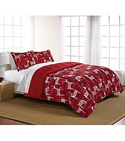 Living Quarters Happy Holidays Reversible Microfiber Down-Alternative Comforter