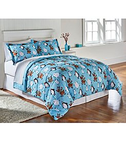Living Quarters Skating Friends Reversible Microfiber Down-Alternative Comforter