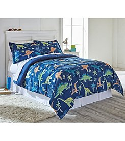 Living Quarters Davey Dinosaur Reversible Microfiber Down-Alternative Comforter