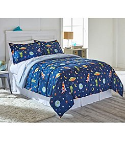 Living Quarters Buzz Space Reversible Microfiber Down-Alternative Comforter