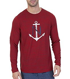 Nautica Men's Long Sleeve Anchor Graphic Tee