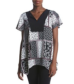 Jones New York® Paisley Ity Peasant Top