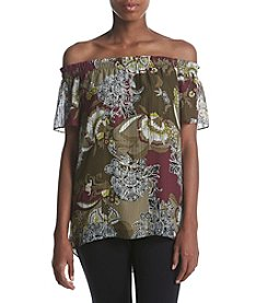 Jones New York® Printed Off The Shoulder Top
