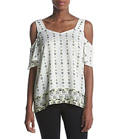 Jones New York® Printed Cold Shoulder Top