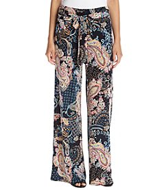 Sequin Hearts Paisley Printed Pallazo Pants