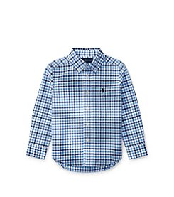 Polo Ralph Lauren® Boys' 2T-20 Plaid Oxford Shirt