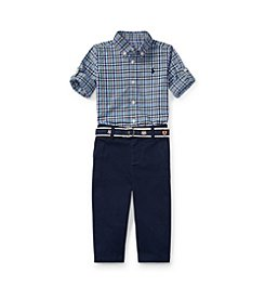 Polo Ralph Lauren® Baby Boys' Plaid Shirt & Pant Set
