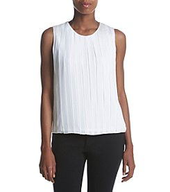 Calvin Klein Pleated Bubble Top