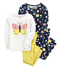 Carter's Baby Girls' 4-Piece Butterfly Pajamas