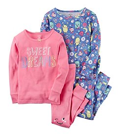 Carter's Girls' 2T-4T 4 Piece Sweet Dreams Snug Fit Cotton PJs