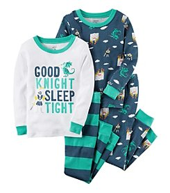 Carter's Baby Boys' 12M-24M 4 Piece Knight Snug Fit Cotton PJs