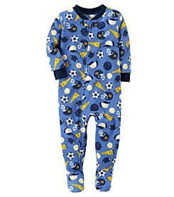 Carter's Baby Boys' 12M-24M One Piece Sports Fleece PJs