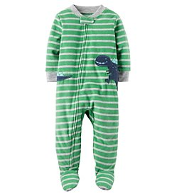 Carter's Baby Boys' 12M-24M One Piece Dinosaur Fleece PJs