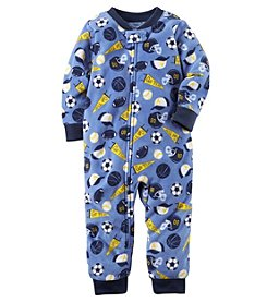 Carter's Baby Boys' 12M-24M One Piece Sports Fleece Footless PJs