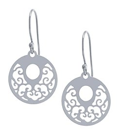 Athra Sterling Silver Disc Drop Earrings