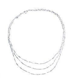 Athra Sterling Silver Twisted Layered Necklace