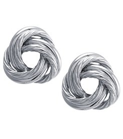 Athra Sterling Silver Knot Stud Earrings