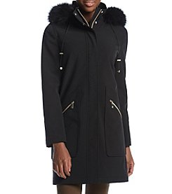 Ivanka Trump Ivanka Faux-Fur Trimmed Hooded Jacket