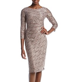 Jessica Howard Side Ruched Sequin Lace Dress