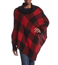 Relativity® Buffalo Plaid Poncho