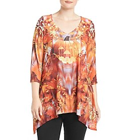 Oneworld® Plus Size V-Neck Top