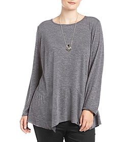 AGB® Plus Size Necklace Pullover Tunic