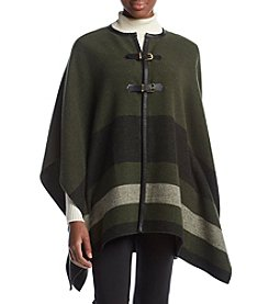 Rafaella® Buckle Closure Heather Poncho