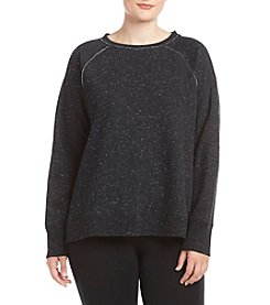 Calvin Klein Performance Plus Size Crop Logo Sweatshirt