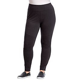 no comment™ Plus Size Moto Leggings