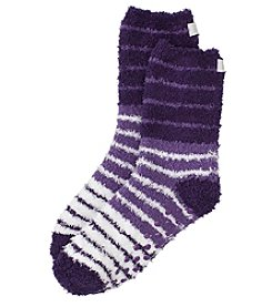 KN Karen Neuburger Knit Tri Striped Socks