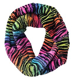 Miss Attitude Girls' Tiger Print Loop Scarf